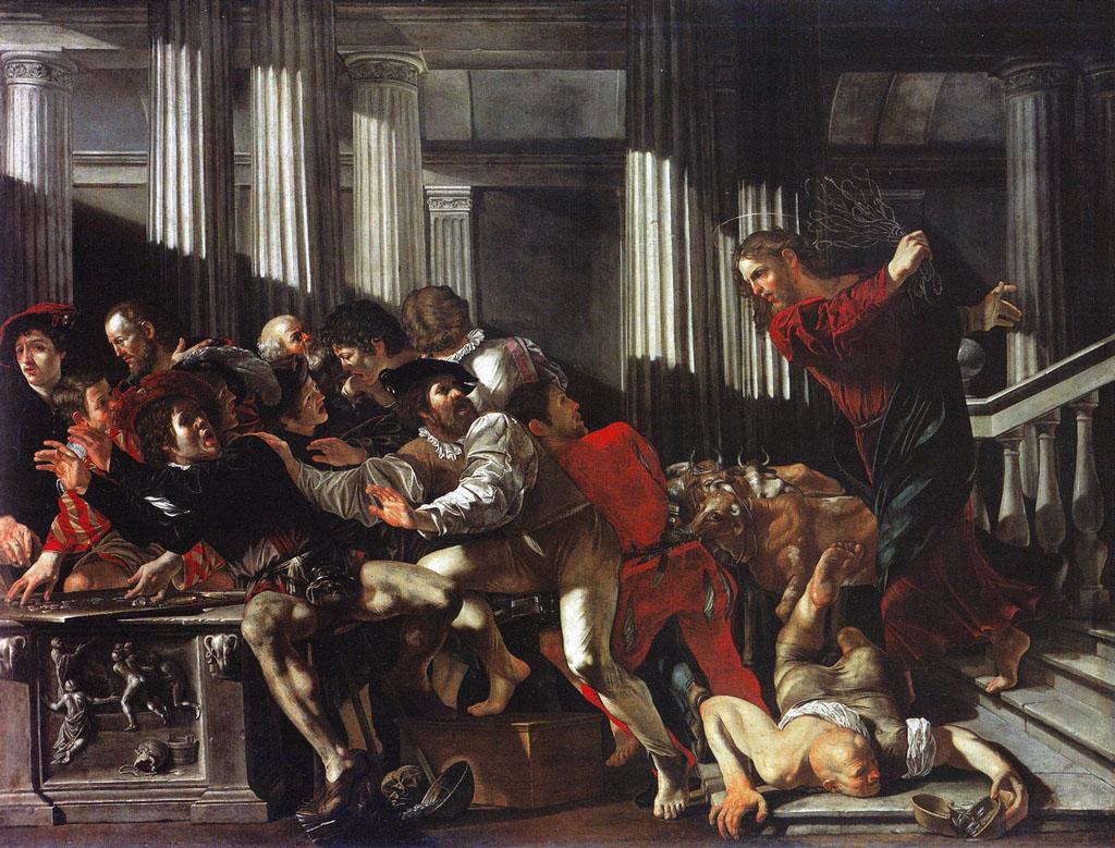 Франческо Бонери. Христос, изгоняющий из храма торговцев. 1615