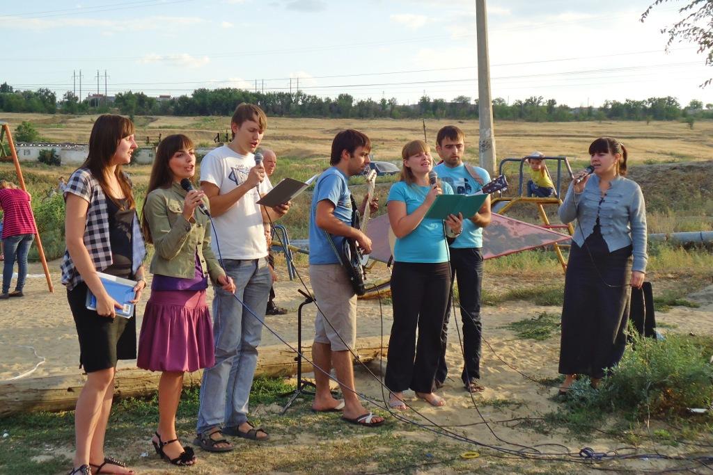 Уличный концерт в Городище