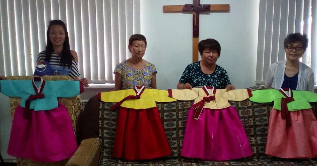 Сёстры из церкви села Новоникольское