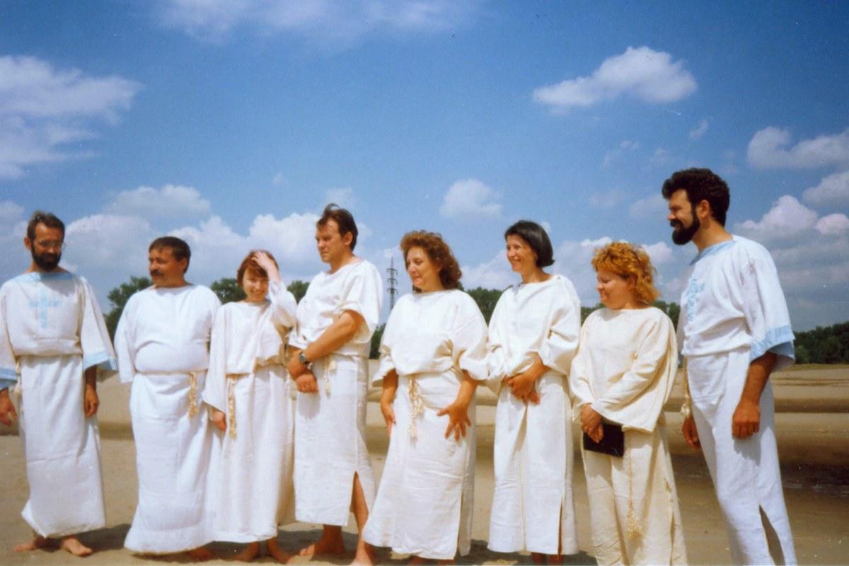 1998 год. Крещение в реке Ахтуба