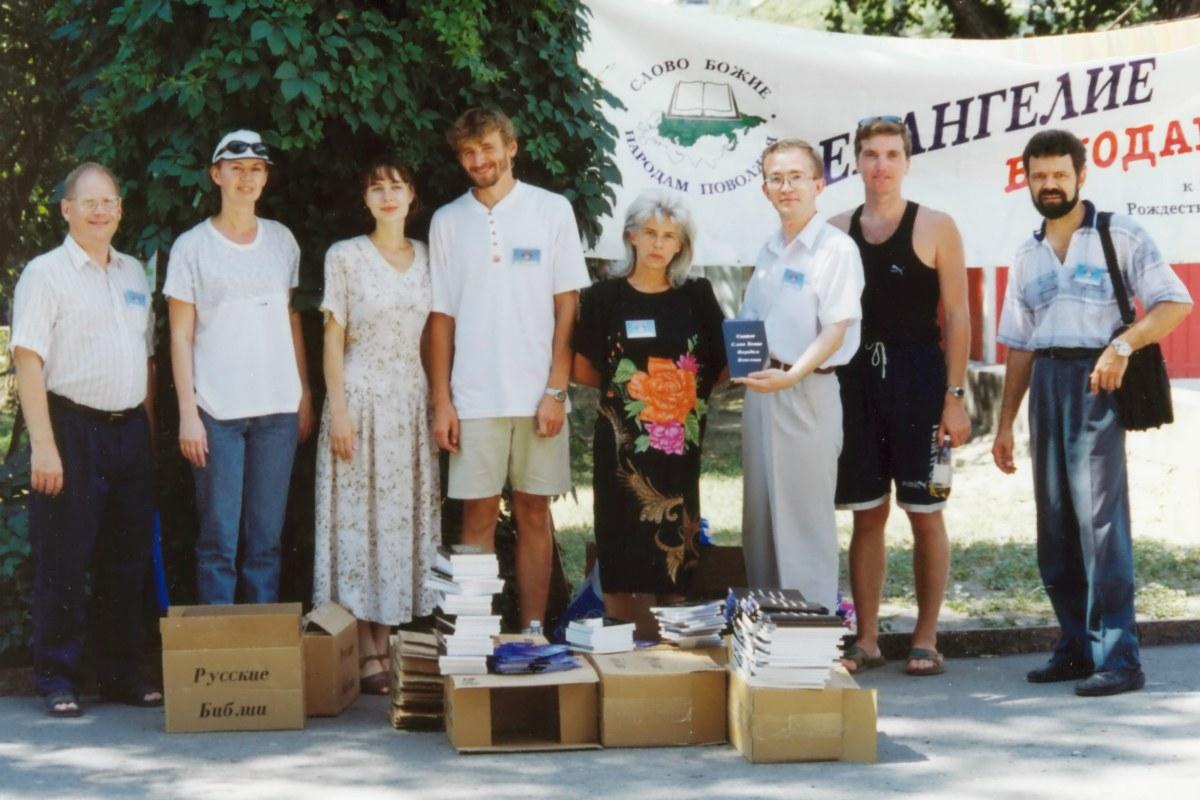2000 год. Евангелизация в центре Волгограда