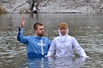 Водное крещение в реке Хопёр
