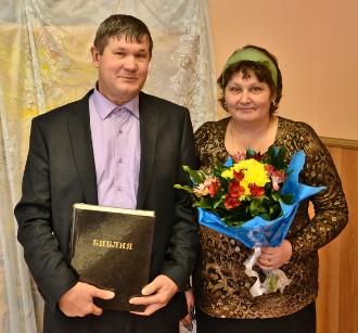 Пастор Юрий Фёдорович Слащилин с женой