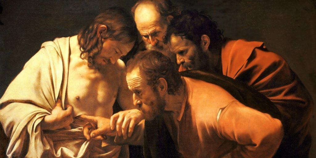 картина Караваджо Уверение святого Фомы