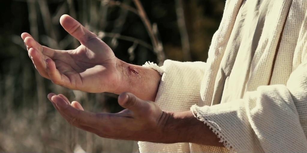 Пронзённые руки Христа