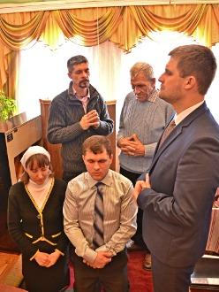 Рукоположение пастора Александра Пугачёва
