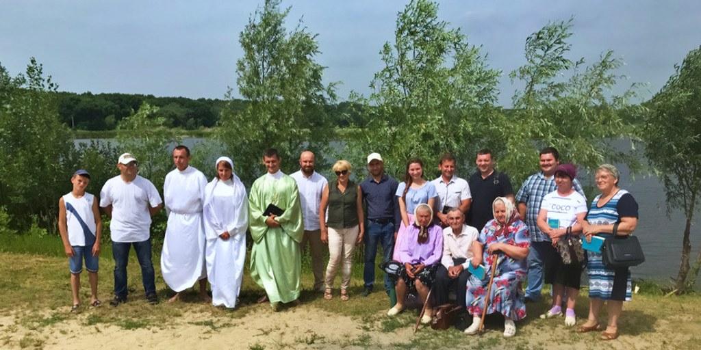 Крещение баптистов в Урюпинске