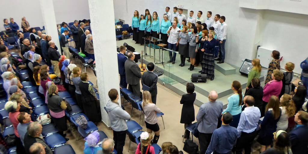 Соборное богослужение баптистских церквей в Волгограде